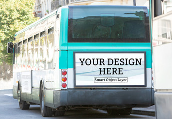Advertisement on Bus Mockup