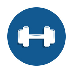 dumbbells icon in badge style. One of sport collection icon can be used for UI, UX