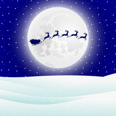 Reindeer in harness with sleigh Santa Claus for Christmas