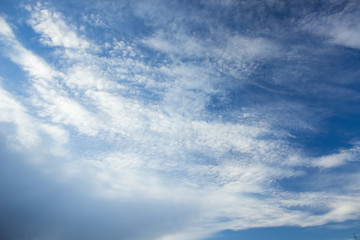 blue contrast sky natural background, copy space