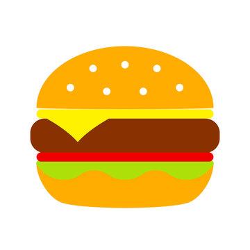 Burger vector cartoon icon
