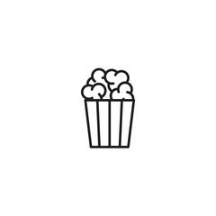 line popcorn black icon on white background