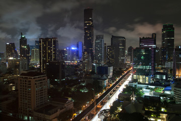 Skyscrappers of Silom by Night