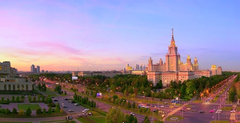 Sunset campus of famous Russian university