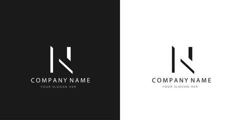 u logo letter modern design