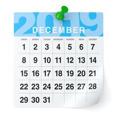 December 2019 - Calendar.