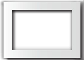 White rectangle frame