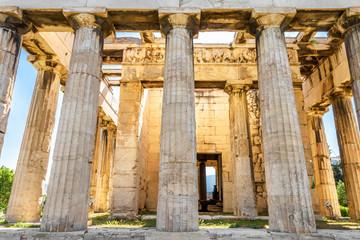 Temple of Hephaestus in sun light, Athens, Greece