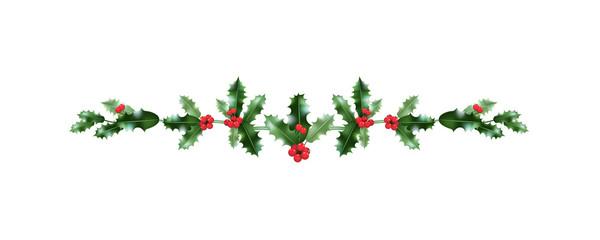 Red Christmas holiday decor