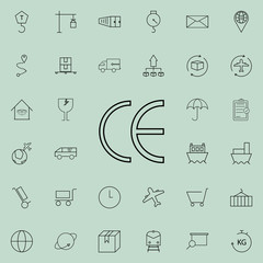 symbol CE mark icon. logistics icons universal set for web and mobile