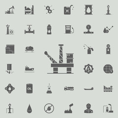 oil Platform icon. Oil icons universal set for web and mobile