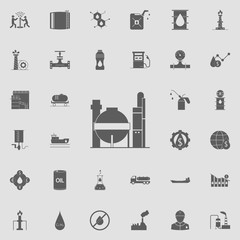 gas storages icon. Oil icons universal set for web and mobile