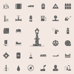 natural gas processing plant icon. Oil icons universal set for web and mobile