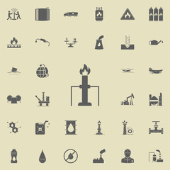 fire and pipe icon. Oil icons universal set for web and mobile