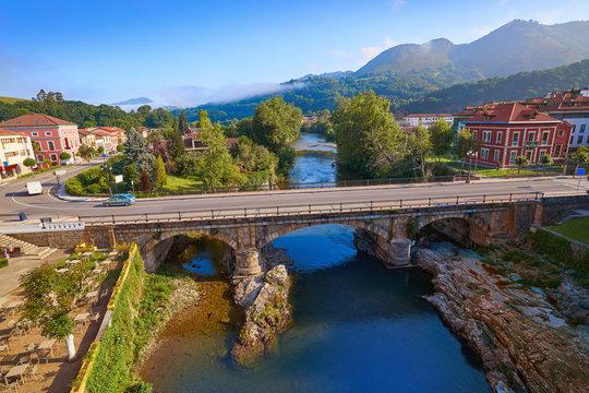 Cangas de Onis village in Asturias Spain