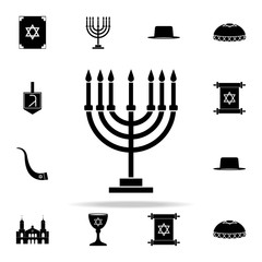 Menorah icon. Religion icons universal set for web and mobile