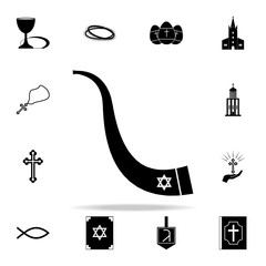 shofar icon. Religion icons universal set for web and mobile