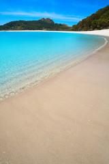 Praia de Rodas beach in islas Cies island of Vigo