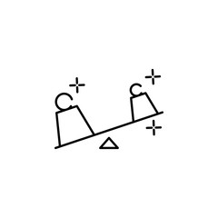 weight icon. Element of physics science for mobile concept and web apps icon. Thin line icon for website design and development, app development