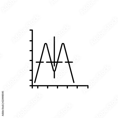 sound wave icon  Element of physics science for mobile concept and