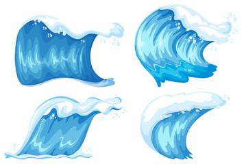 Set of blue wave