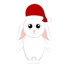 Christmas rabbit cartoon character