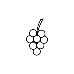 Grape, fruit icon. Element of thanksgiving day for mobile concept and web apps illustration. Thin line icon for website design and development, app development