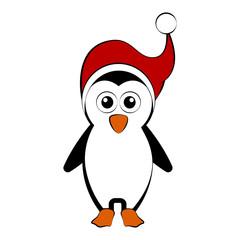 Christmas penguin cartoon character