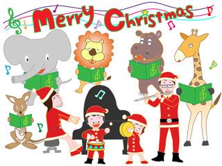 家族と動物たちのクリスマスコンサート