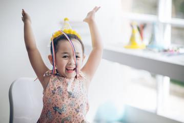 children girl enjoy in party