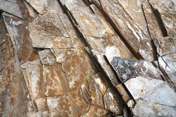 Slate stone texture in Playa las catedrales Ribadeo