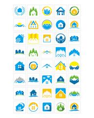 house home icon image vector icon logo symbol set