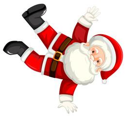 Break dancing santa clause