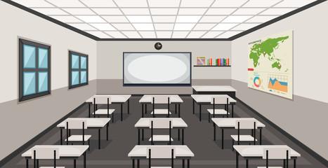 Interior of a classroom