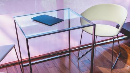 designer furniture in a luxury hotel room