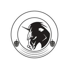 unicorn  logo icon design template vector