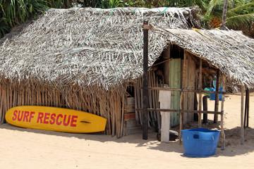 The lifeguard shack of Nilaveli beach in Trincomalee