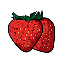 Strawberry Line Color Illustration