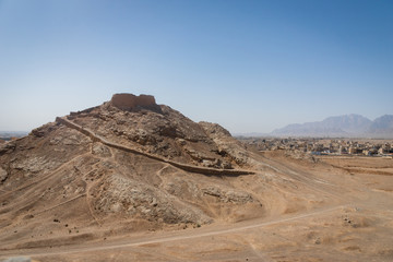 Tower of Silence, ancient zoroastrian site in Yazd, Iran
