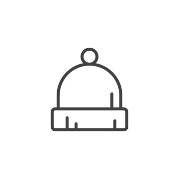 Beanie hat outline icon. linear style sign for mobile concept and web design. Baby hat simple line vector icon. Symbol, logo illustration. Pixel perfect vector graphics