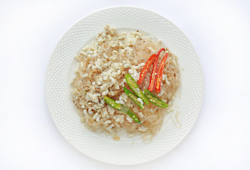 Thai food is made from red ant egg spicy.