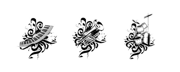 Vector compositions - music