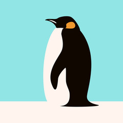 penguin  vector illustration flat style  profile