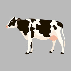 cow   vector illustration flat style  profile