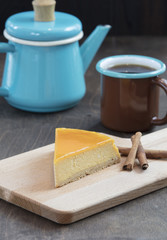 slice of homemade tasty cheesecake