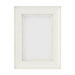 Blank Mock Up White Frame For Photographs. 3d Rendering