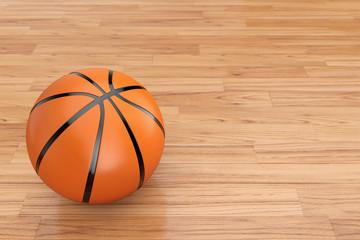 Orange Basketball Ball. 3d Rendering