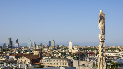 a view over Milan Italy