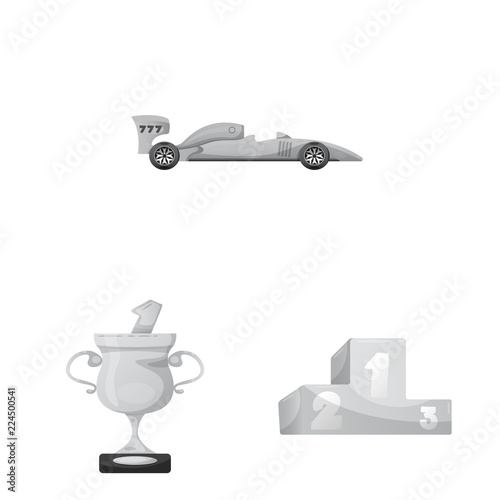 Isolated Object Of Car And Rally Icon Collection Of Car And Race