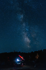 Amateur telescope and Milky Way
